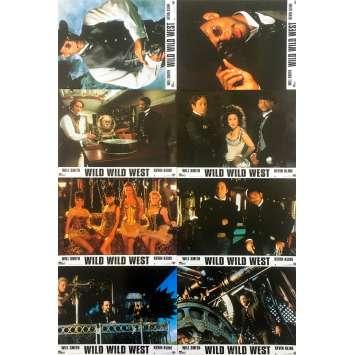 WILD WILD WEST Original Lobby Cards x8 - 9x12 in. - 1999 - Barry Sonnenfeld, 0