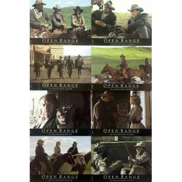 OPEN RANGE Original Lobby Cards x8 - 9x12 in. - 2003 - Kevin Costner, Robert Duvall