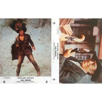LOS AMIGOS Photos de film x2 - 21x30 cm. - 1973 - Anthony Quinn, Franco Nero, Paolo Cavara