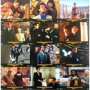 THE WORLD IS NOT ENOUGH Original Lobby Cards x12 - 9x12 in. - 1999 - Michael Apted, Pierce Brosnan