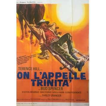 ON L'APPELLE TRINITA Affiche de film - 120x160 cm. - 1970 - Terence Hill, Bud Spencer, Enzo Barboni