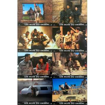 THREE KINGS Original Lobby Cards x8 - 9x12 in. - 1999 - David O. Russel, George Clooney