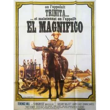 EL MAGNIFICO Affiche de film - 120x160 cm. - 1972 - Terence Hill, Enzo Barboni