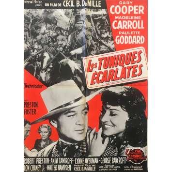 NORTH WEST MOUNTED POLICE Original Movie Poster - 23x32 in. - 1940 - Cecil B. DeMille, Gary Cooper