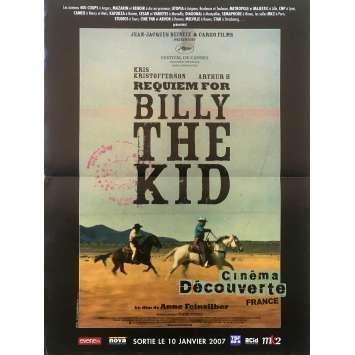 REQUIEM FOR BILLY THE KID Original Movie Poster - 15x21 in. - 2006 - Anne Feinsilber, Arthur H., Kris Kristofferson