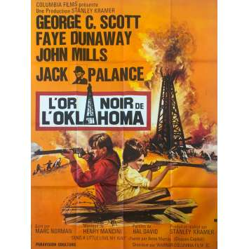 OKLAHOMA CRUDE Original Movie Poster - 47x63 in. - 1973 - Stanley Kramer, George C. Scott, Faye Dunaway,
