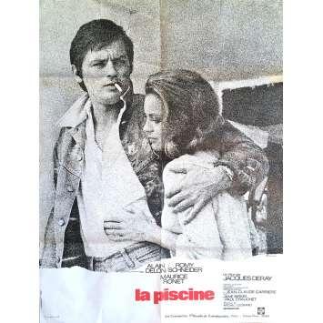 LA PISCINE Affiche de film 60x80 cm - 1974 - Alain Delon, Romy Schneider, Jacques Deray