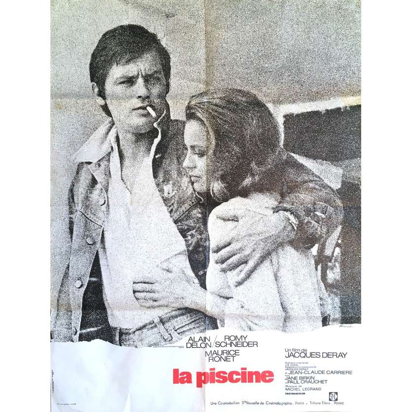SWIMMING POOL Movie Poster 23x32 in. - 1974 - Jacques Deray, Alain Delon, Romy Schneider