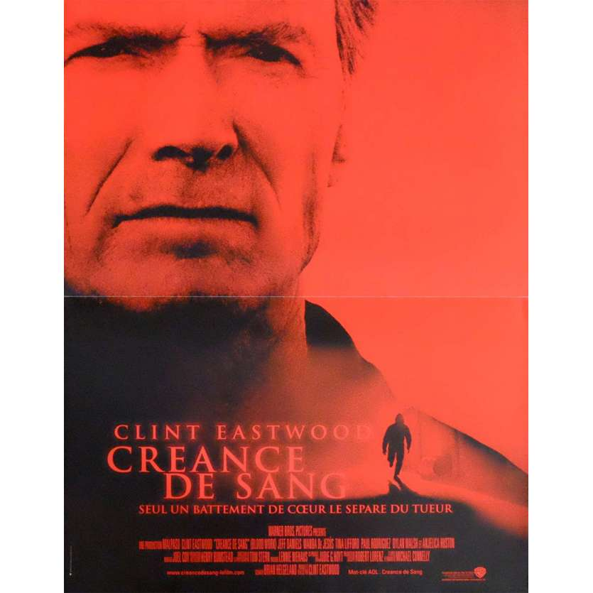 BLOOD WORK French Movie Poster 15x21 - 2002 - Clint Eastwood, Clint Eastwood