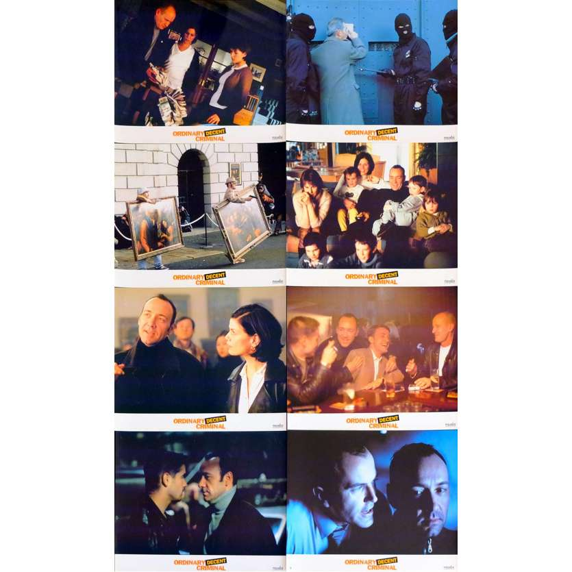 ORINARY DECENT CRIMINAL French Lobby cards x8 9x12 - 2000 - Thaddeus O'Sullivan, Kevin Spacey