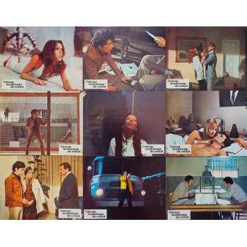 THE BIRD WITH THE CRYSTAL PLUMAGE Original Lobby Cards x9 - 9x12 in. - 1970 - Dario Argento, Tony Musante
