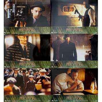 ROAD TO PERDITION Original Lobby Cards x6 - 9x12 in. - 2002 - Sam Mendes, Tom Hanks