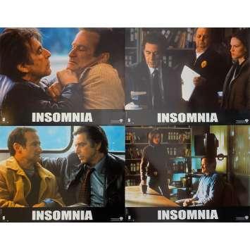 INSOMNIA Original Lobby Cards x4 - 9x12 in. - 2002 - Christopher Nolan, Al Pacino, Robin Williams