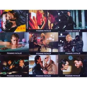 FEMME FATALE Original Lobby Cards x9 - 9x12 in. - 2002 - Brian De Palma, Antonio Banderas