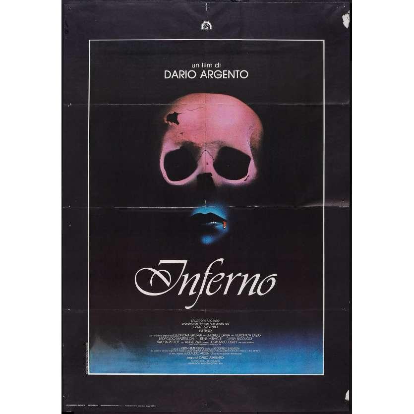 INFERNO Italian 1p '80 Dario Argento horror, really cool skull & bleeding mouth image!