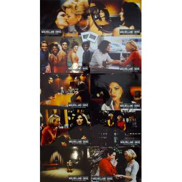 MULHOLLAND DR Original Lobby Cards x10 - 9x12 in. - 2001 - David Lynch, Naomi Watts