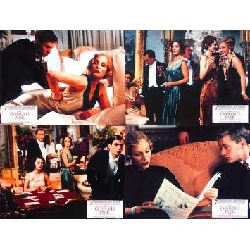 GOSFORD PARK Original Lobby Cards x4 - 9x12 in. - 2001 - Robert Altman, Maggie Smith, Ryan Phillippe