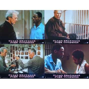 TRUE CRIME Original Lobby Cards x4 - 9x12 in. - 1999 - Clint Eastwood, Isaiah Washington