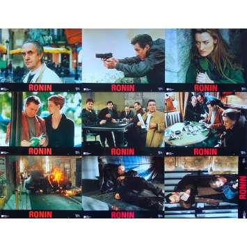 RONIN Original Lobby Cards x9 - 9x12 in. - 1998 - John Frankenheimer, Robert de Niro