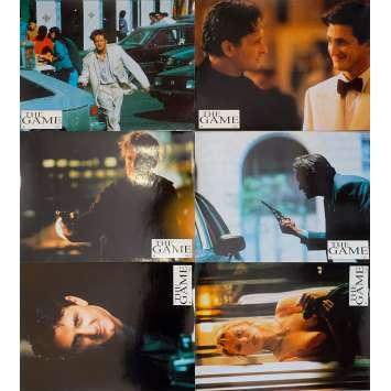 THE GAME Original Lobby Cards x6 - 9x12 in. - 1997 - David Fincher, Michael Douglas