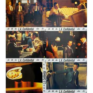 L.A. CONFIDENTIAL Original Lobby Cards x6 - 9x12 in. - 1997 - Curtis Hanson, Kevin Spacey