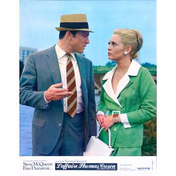 THE THOMAS CROWN AFFAIR Original Lobby Card N07 - 9x12 in. - 1968 - Norman Jewison, Steve McQueen