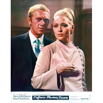 THE THOMAS CROWN AFFAIR Original Lobby Card N09 - 9x12 in. - 1968 - Norman Jewison, Steve McQueen