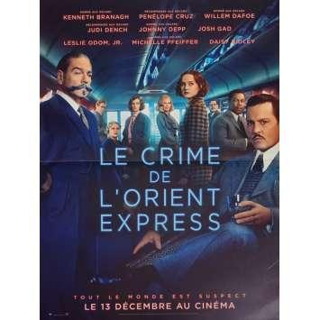MURDER ON THE ORIENT EXPRESS Original Movie Poster - 15x21 in. - 2017 - Kenneth Branagh, Penélope Cruz, Willem Dafoe