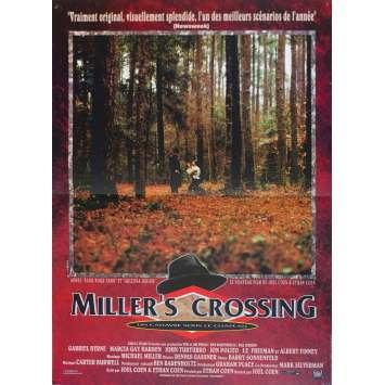 MILLER'S CROSSING Original Movie Poster - 15x21 in. - 1990 - Joel Coen, Gabriel Byrne