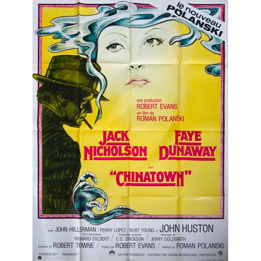 CHINATOWN Original Movie Poster - 47x63 in. - 1974 - Roman Polanski, Jack Nicholson