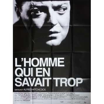 L'HOMME QUI EN SAVAIT TROP Affiche de film - 120x160 cm. - 1934/R1980 - Peter Lorre, Alfred Hitchcock