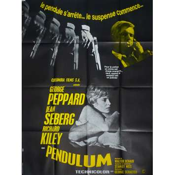 PENDULUM Original Movie Poster - 47x63 in. - 1969 - George Schaefer, George Peppard, Jean Seberg