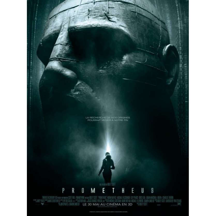 PROMETHEUS Affiche FR 120x160 Ridley Scoot Noomi Rapace Fassbender