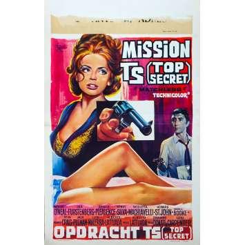 MISSION T.S. Affiche de film - 35x55 cm. - 1967 - Patrick O'Neal, Ira von Fürstenberg, Alberto Lattuada