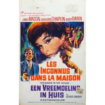 LES INCONNUS DANS LA MAISON Affiche de film - 35x55 cm. - 1967 - James Mason, Pierre Rouve