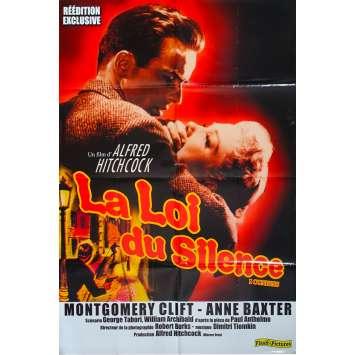 LA LOI DU SILENCE Affiche de film - 80x120 cm. - 1953/R1990 - Montgomery Clift, Anne Baxter, Alfred Hitchcock