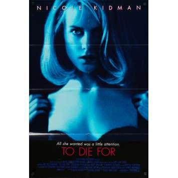 TO DIE FOR Original Movie Poster - 27x40 in. - 1995 - Gus Van Sant, Nicole Kidman