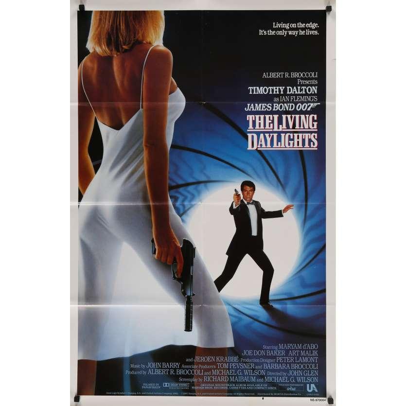 THE LIVING DAYLIGHTS Original Movie Poster - 27x40 in. - 1987 - John Glen, Timothy Dalton