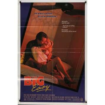 THE BIG EASY Original Movie Poster - 27x40 in. - 1986 - Jim McBride, Dennis Quaid