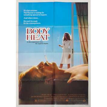 BODY HEAT Original Movie Poster - 27x40 in. - 1981 - Lawrence Kasdan, William Hurt