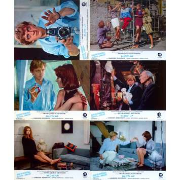 BLOW UP Original Lobby Cards x6 - 9x12 in. - 1968 - Michelangelo Antonioni, David Hemmings