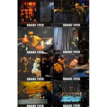 SNAKE EYES Original Lobby Cards x8 - 9x12 in. - 1998 - Brian De Palma, Nicolas Cage