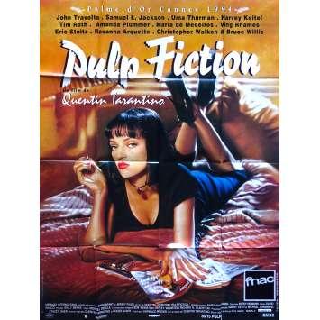 PULP FICTION Affiche de Cinéma Originale 120x160 - 1994 - Tarantino