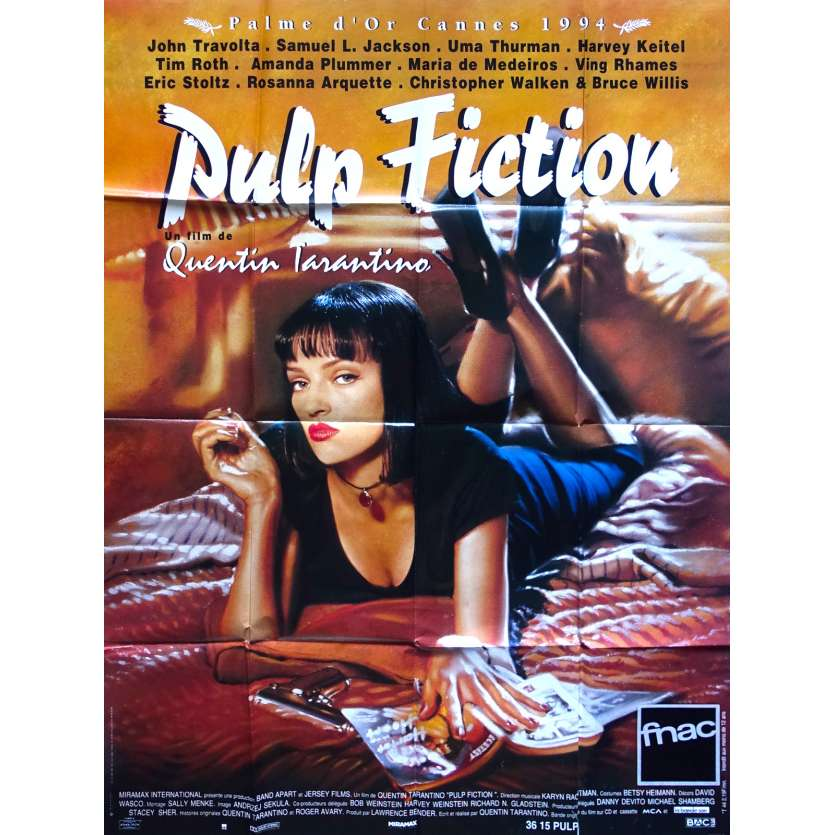 PULP FICTION French Movie Poster - 47x63 - Tarantino