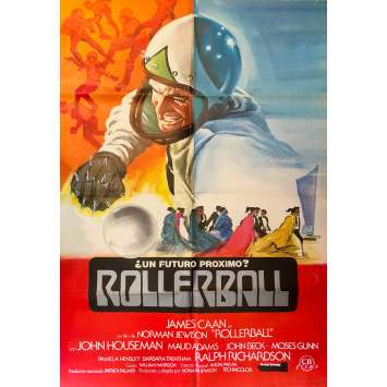 ROLLERBALL Spanish Movie Poster 27x40 - R1980 - James Caan