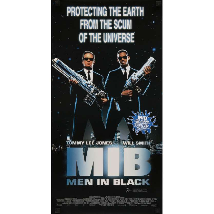MEN IN BLACK Affiche de film 33x76 - 2001 - Will Smith