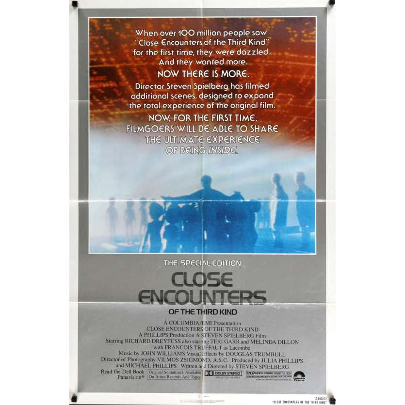 CLOSE ENCOUNTERS OF THE THIRD KIND Movie Poster R80 Steven Spielberg's sci-fi classic