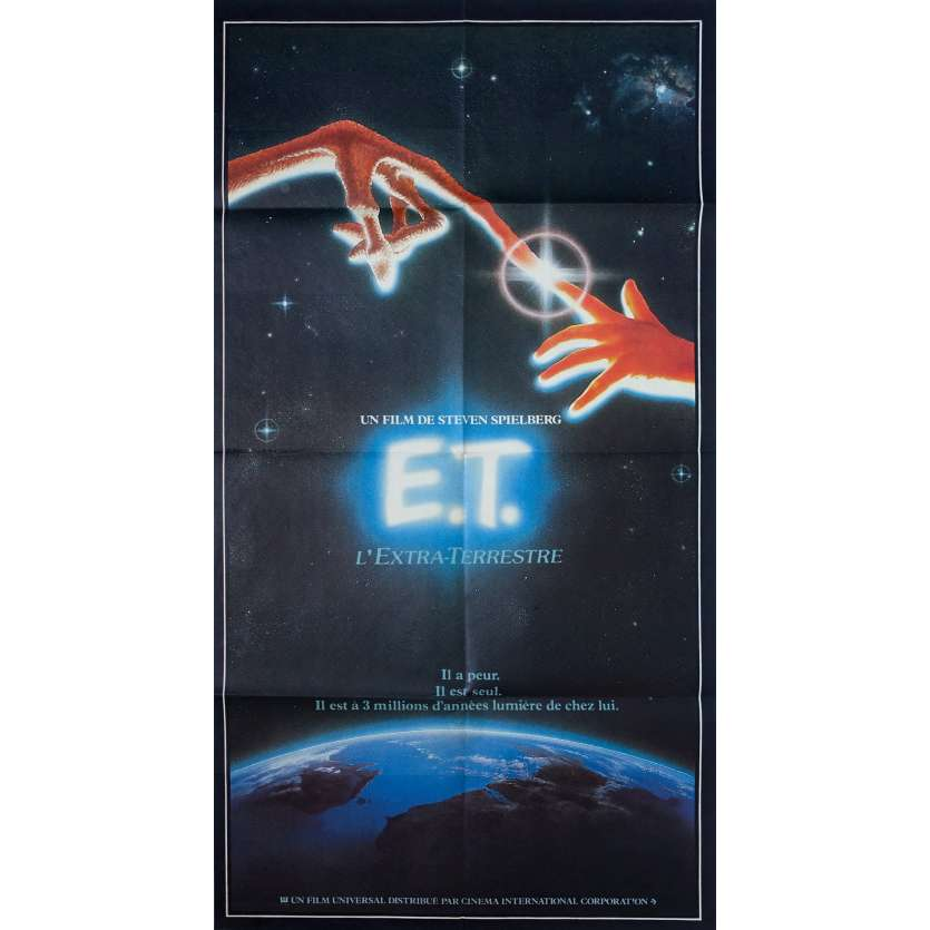 E.T. THE EXTRA-TERRESTRIAL Original Movie Poster - 32x47 in. - 1982 - Steven Spielberg, Dee Wallace