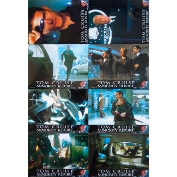 MINORITY REPORT Original Lobby Cards X8 - 9x12 in. - 2002 - Steven Spielberg, Tom Cruise