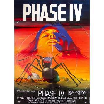 PHASE 4 Affiche de film - 59x84 cm. - 1974 - Nigel Davenport, Saul Bass